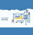 Social media advertising mockup landing page