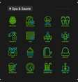 spa sauna thin line icons set vector image