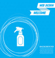 spray icon on a blue background with abstract vector image vector image