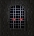 stone wall and red eyes vector image vector image