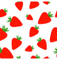 strawberries seamless pattern on the white vector image