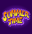 summer time typeface hand drawn vector image vector image