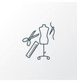 tailoring icon line symbol premium quality vector image