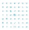 thin lines web icons set contact us vector image vector image