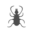 Tick insect silhouette Mite deer ticks big icon vector image vector image