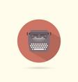 typewriter flat round icon vector image vector image