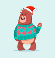 ugly christmas sweater party with cute animal vector image vector image