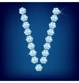 vector diamond alphabet lette v vector image vector image
