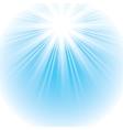 bright shining sun vector image