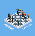 isometric concept of business strategy vector image