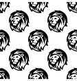 Seamless pattern of eraldic lions with shaggy mane vector image