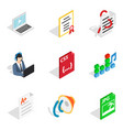 remote operation icons set isometric style vector image