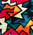 urban grunge geometric seamless pattern vector image