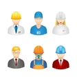 3d workers icons vector image