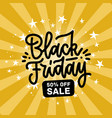 a black friday sale design flat hand drawn letters vector image