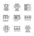 Air cleaning equipment black line icons set vector image vector image
