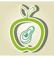 apple fruit with papaya isolated icon design vector image vector image