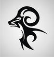 Aries Sign Tribal vector image vector image