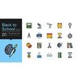 back to school icons set 2 filled outline design vector image