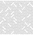 black seamless wavy line pattern vector image vector image
