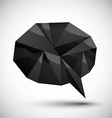 Black speech bubble geometric icon made in 3d vector image vector image