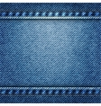 blue jean texture background vector image vector image