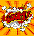 boom word comic book pop art vector image vector image