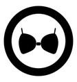 bra icon black color in circle or round vector image