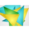 Bright abstract triangles design vector image