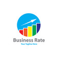 business rate logo designs vector image