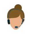 Call center consultant vector image vector image