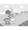 Cartoon cow on farm vector image vector image