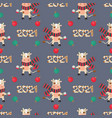 chinese new year seamless pattern with a bull vector image vector image