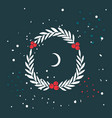 christmas wreath new year holiday celebration vector image vector image