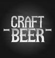 craft beer phrase in stippling technique vector image vector image