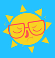 Cute Geek Sun Disappointed vector image vector image