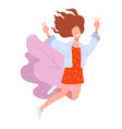 dancing girl with smile on face smiling dancer vector image vector image