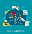 detective flat composition vector image vector image