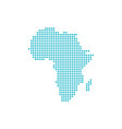 dotted africa map isolated on white background vector image vector image