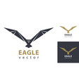 eagle flying eagles logo design modern style vector image