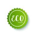 eco organic labels tags vector image vector image