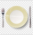 empty plate in ivory white design vector image