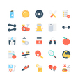 Fitness Icons 2 vector image vector image