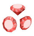 Flat Icon of Set Diamond Three-dimensional Design vector image