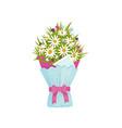 flowers bouquet chamomile design element vector image vector image