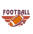football wing ball background image vector image