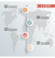 four steps infographic background whith icons vector image vector image