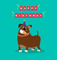 funny dog and ice cream card vector image vector image