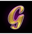 golden and pink letter g vector image vector image