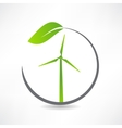 green ecological windmill icon vector image